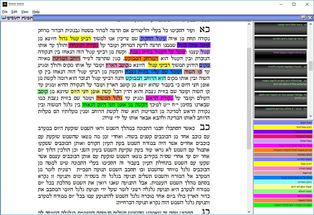 A book like 3D site with commentary Kiddush HaChodesh